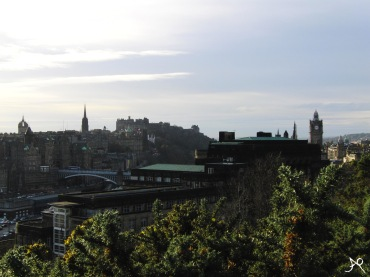 View of Edinburgh's Old Town with the North Bridge