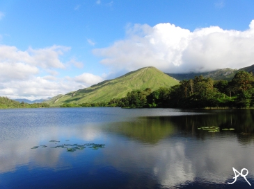 Film-like scenery - Pollacapall Lough at Kylemore Abbey, Connemara, C. Galway Ireland