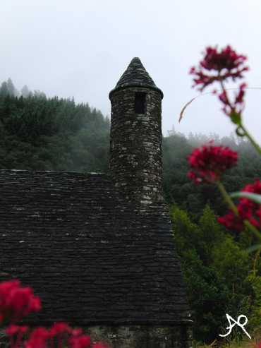 Focua on the lovely house - Glendalough, Ireland